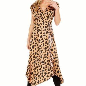 NWT Becca Tilley X Leopard Animal Print Midi Dress